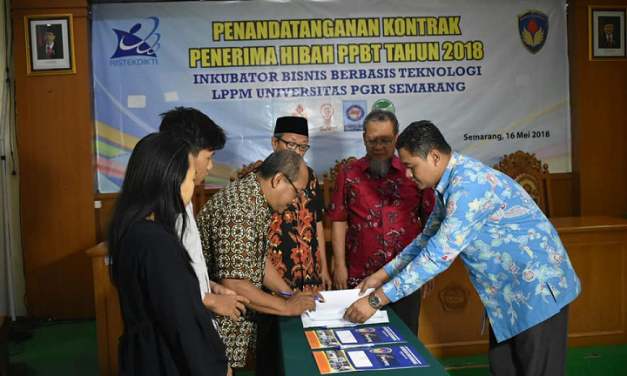 IBBT-LPPM UPGRIS melakukan penandatangan Kontrak kepada tenant penerima hibah PPBT tahun 2018